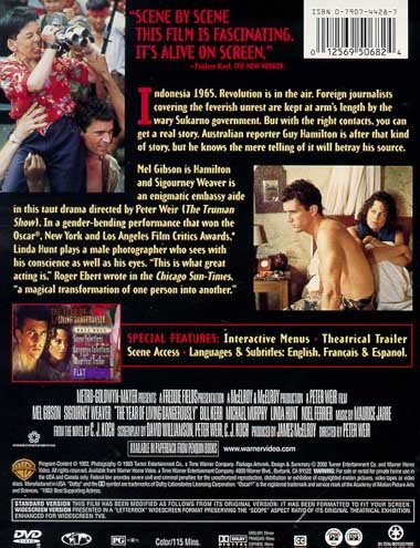 The Year Of Living Dangerously Dvd Details